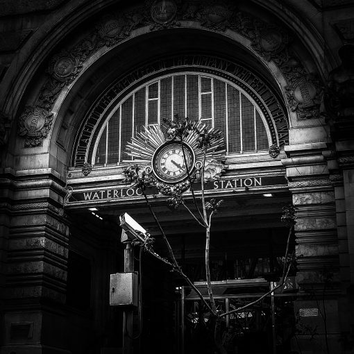 Photograph of Waterloo Station clock by Martin Nathan